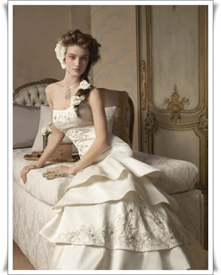 Ivory Embroidered Wedding Gown