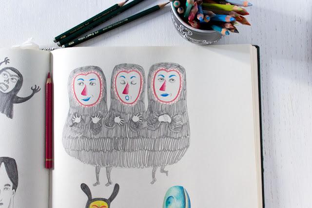 Mar Villar - Dibujos de máscaras 2