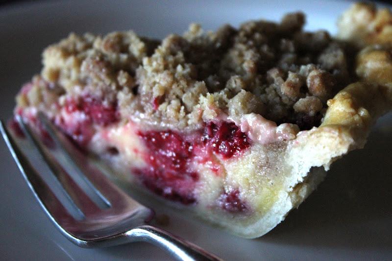Raspberry Cream Crumble Pie... | Backyard Farmgals