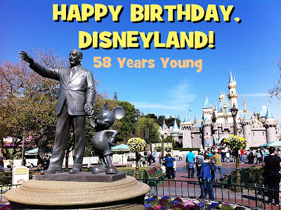 Disneyland Disneyland's birthday fifty-eight years old July 17th 1955
