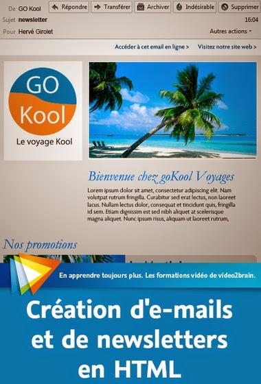 Création D'e-mails Et Newsletters en HTML