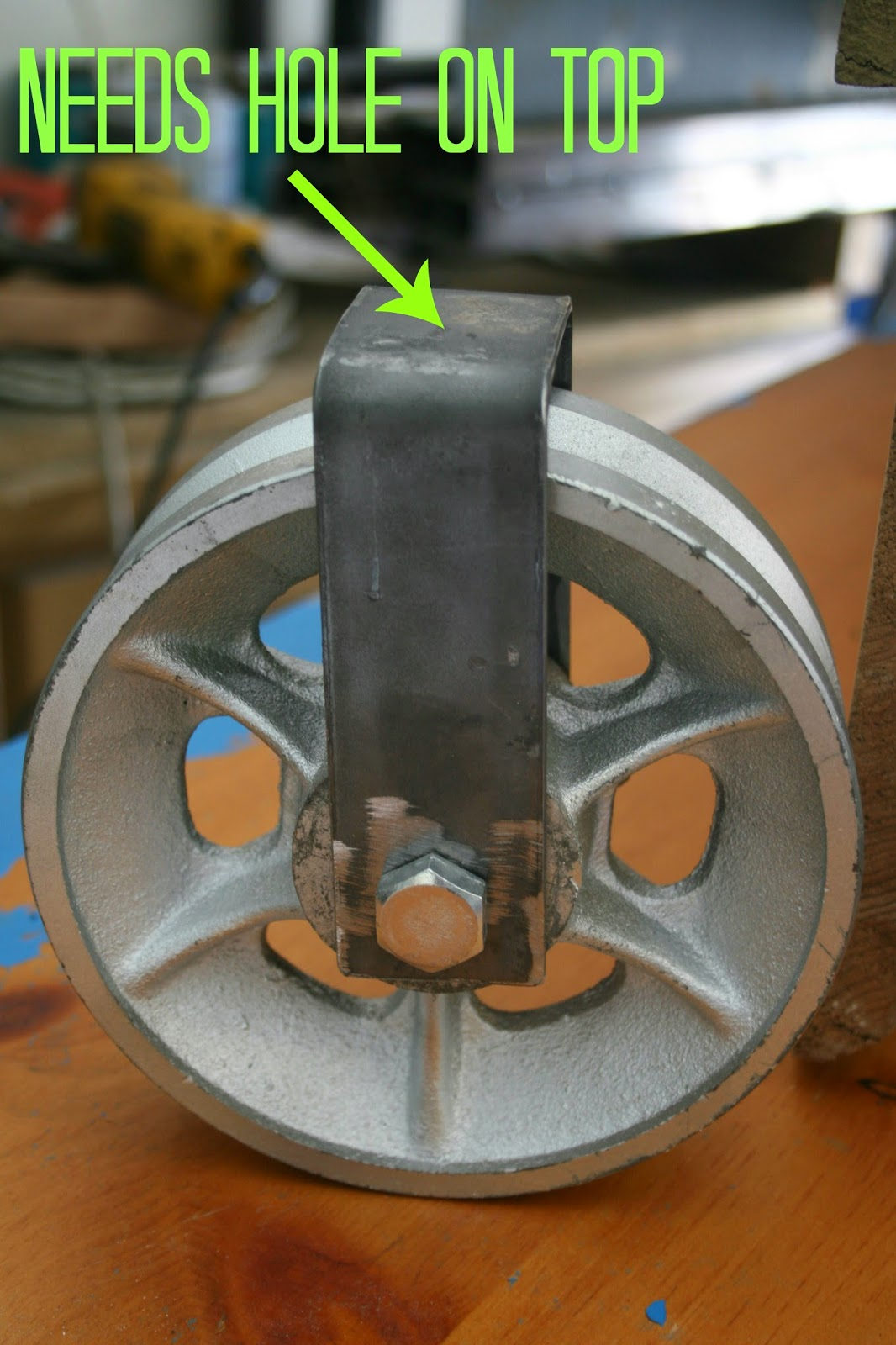 how to turn almost any wheel into a caster