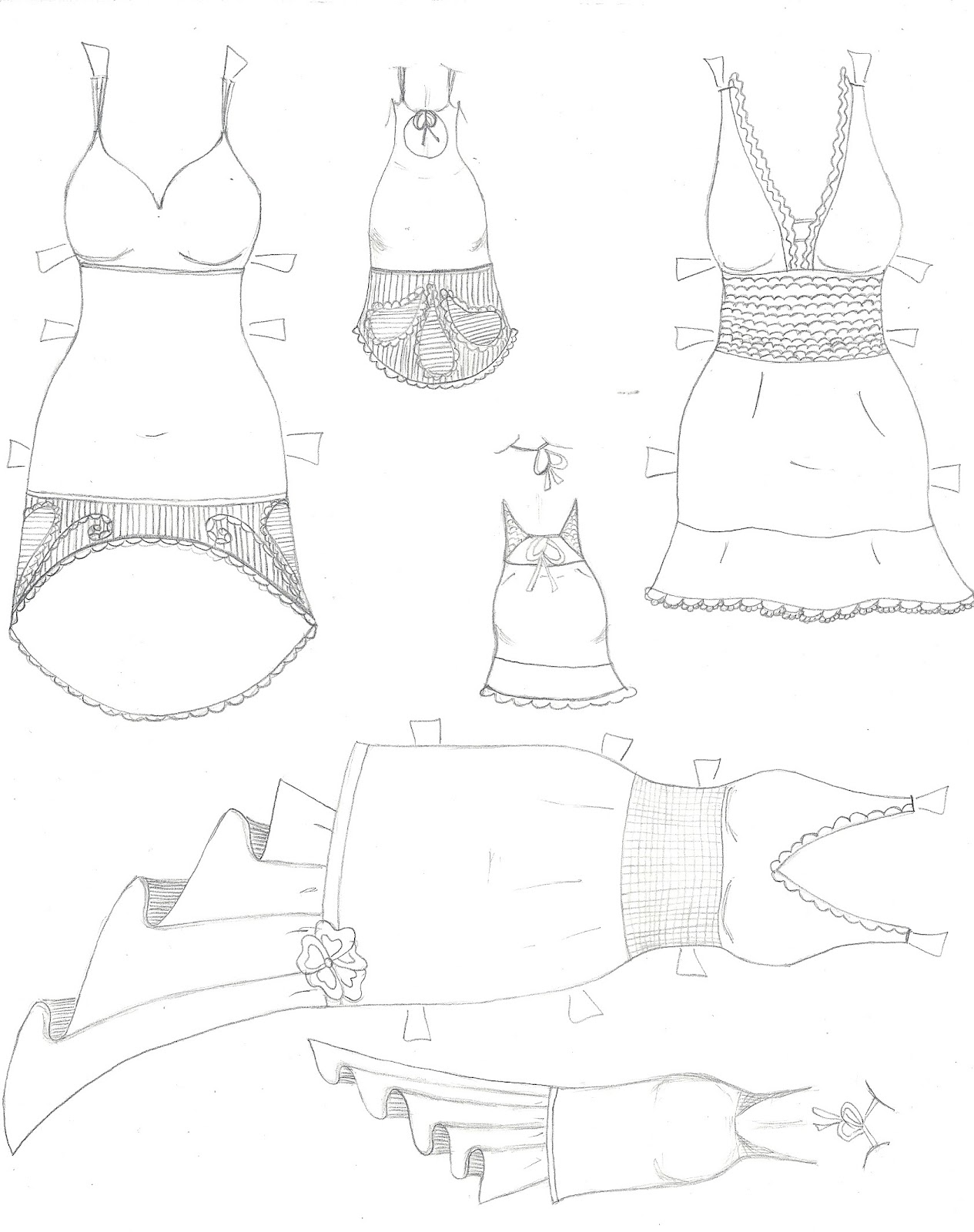 PAPER DOLL EVE~: Free Facebook paper doll dresses, coloring page ...