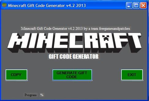 Minecraft Gift Code Generator v4.2 2013 New Version 2013 Tested 2013