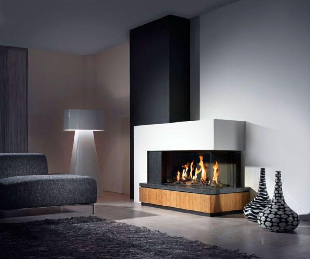 modern freestanding fireplace
