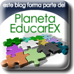 Se trata de la image de Planeta Educarex, con letras en verde e imagen de un puzle