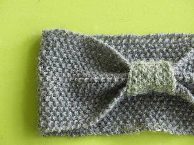 Strikket pandebånd i perlestrik - gratis opskrift