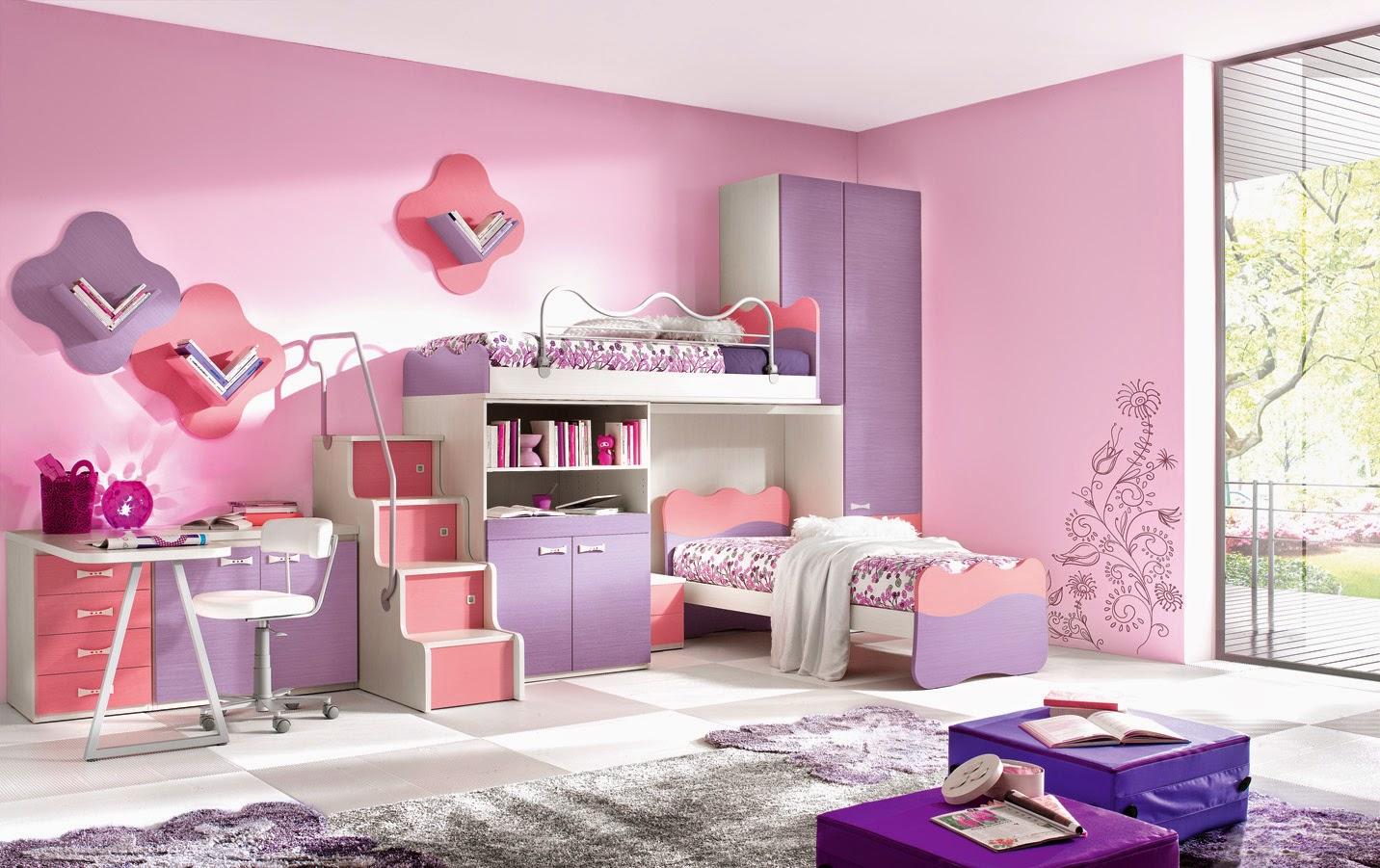 contoh gambar desain kamar anak perempuan lucu