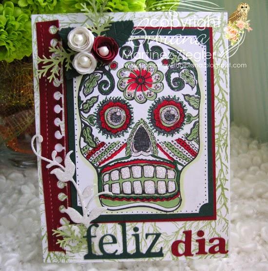 sugar skull card front