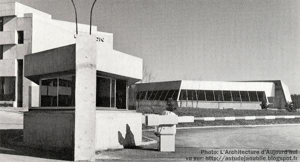 Usine et centre de recherche Thomson-Houston aujourd'hui Thales. Architectes: Claude Parent, Paul Virilio Construction: 1964-1971