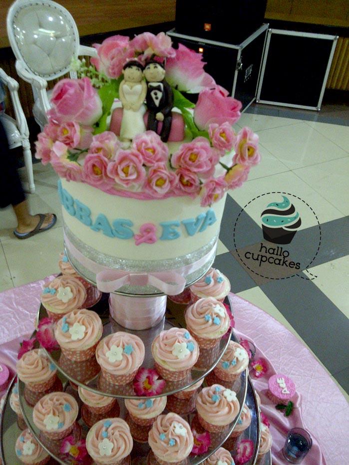 HALLO CUPCAKES Pink Wedding Cupcakes For AbbasEva - Harga Dummy Wedding Cake