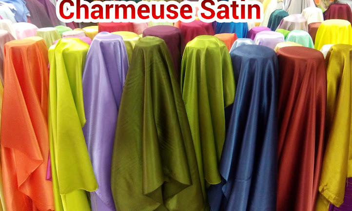 KAIN PLAIN SATIN CHARMEUSE, BIDANG 45