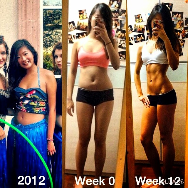 Fitness Journey Transformation Progress Photo Asian Girl
