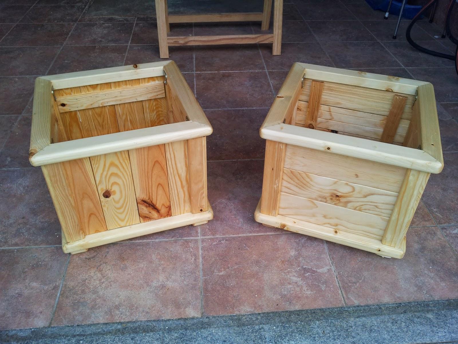 Macetas de madera para exterior amazing gran variedad en for Macetas madera exterior
