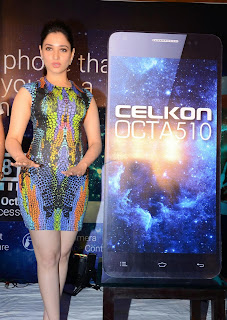Actress Tamannaah  Picture in Short Dress at Celkon Mobile OCT A510 Launch  172.JPG