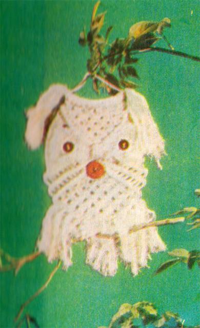 Подробная схема плетения совы.