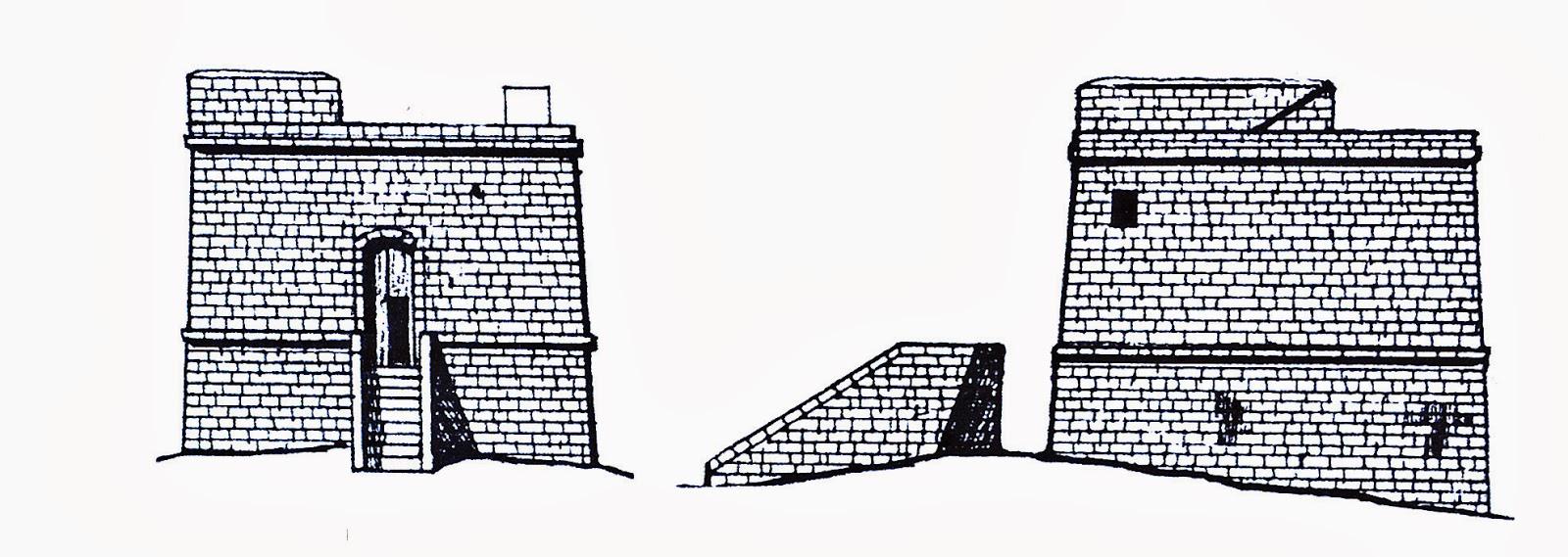 Alzado torre Qawra