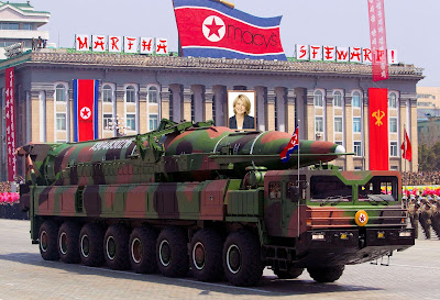 A North Korean missile launcher