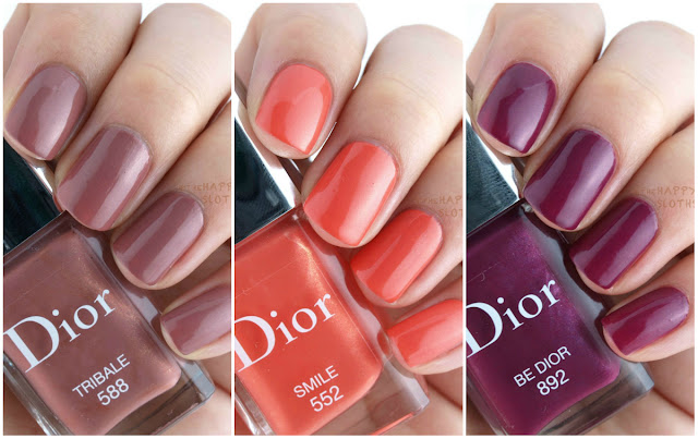 """Dior Vernis in """"552 Smile"""", """"588 Tribale"""" & """"892 Be Dior"""": Review and Swatches"""