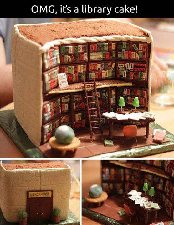Cake Decorated Like Books : Book Chase: The Perfect Cake for Book Lovers
