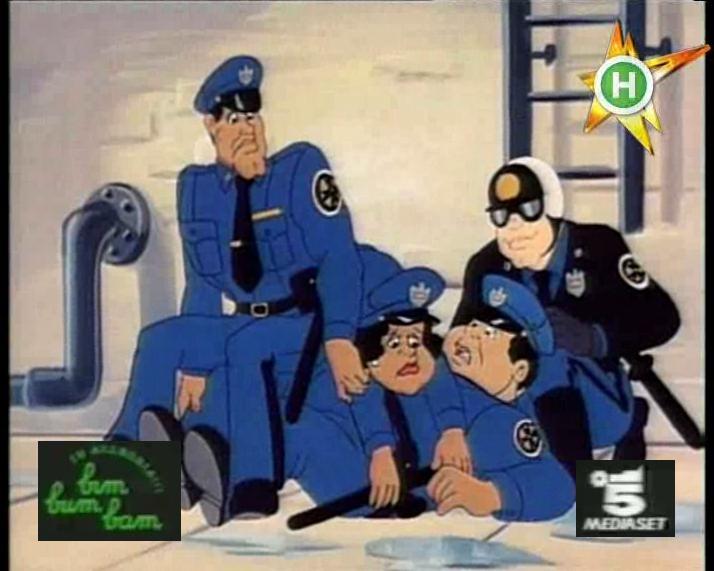 Scuola di polizia cartone