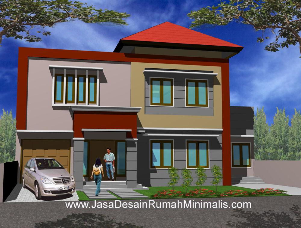 desain atap rumah minimalis 2 lantai model rumah