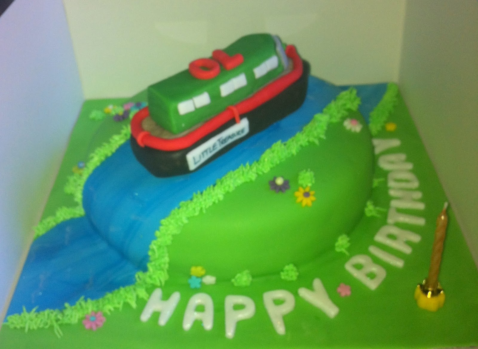 My Life In Cakes Ernies Narrow Boat Birthday Cake