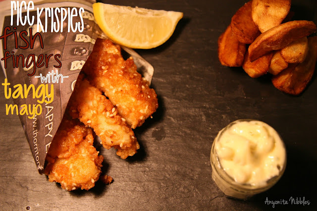 Rice Krispies Fish Fingers with Tangy Mayo