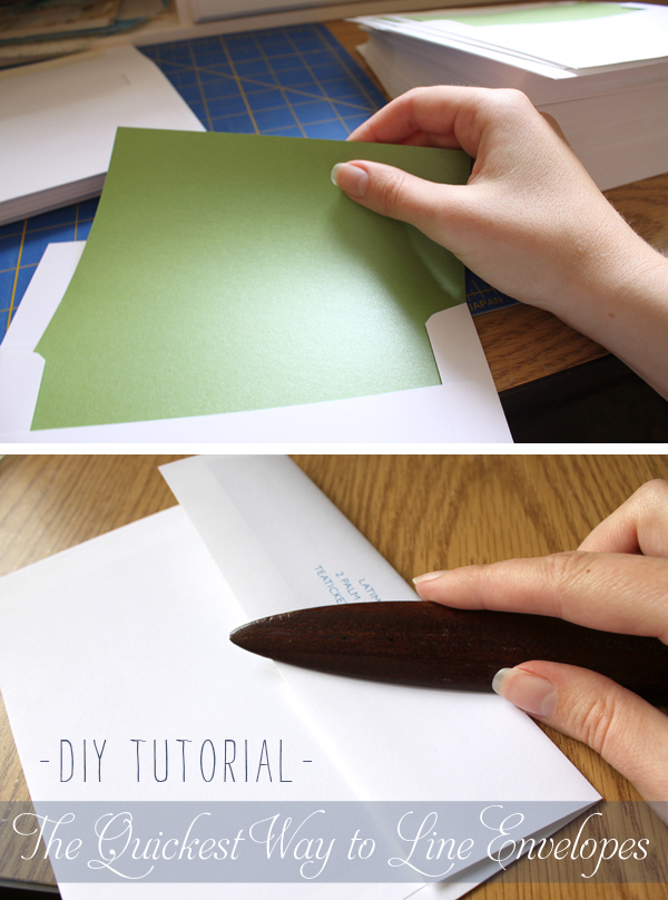DIY Tutorial The Quickest Way to Line Envelopes With Envelope Liners - a must read for DIY wedding invitations