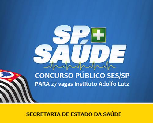 SAUDE/SP: Autorizado Concurso SES/SP - Secretaria da Saúde de SP