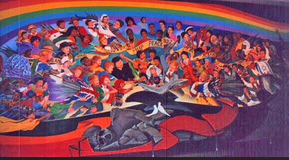Da new sees world report via daniyel enigmatic murals for Denver airport mural conspiracy