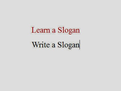 Write a slogan against corruption new education