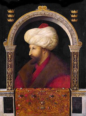 Retrato de Mehmed II por el artista veneciano Gentile Bellini
