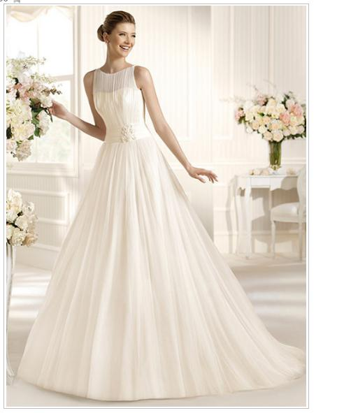 line wedding dress