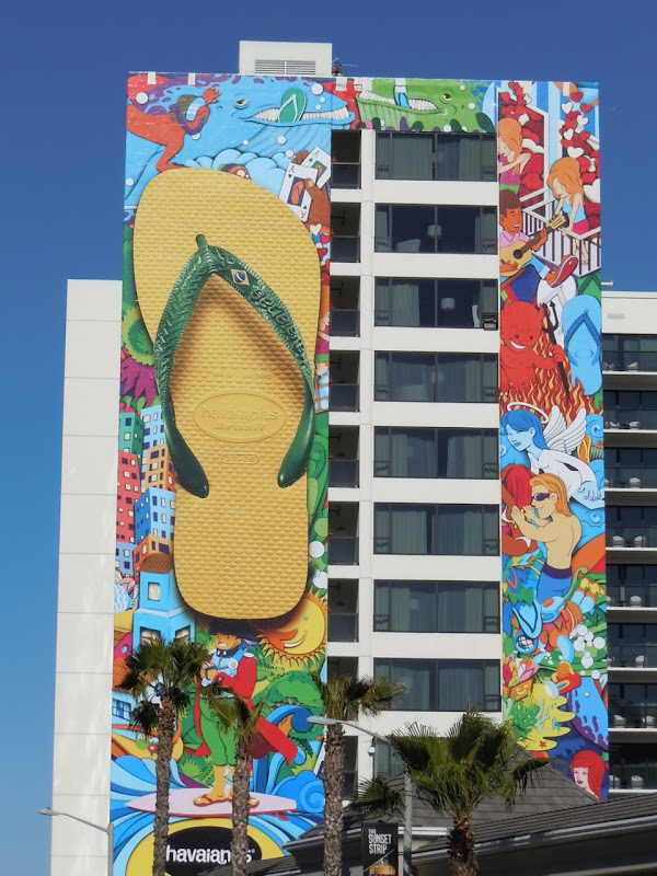 Havaianas flip flops Mondrian billboard