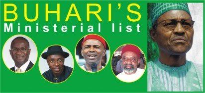 Names on Nigeria Ministerial list includes Fashola,Amaechi and Abike Dabiri