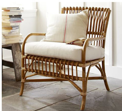 Paddington Rattan Armchair pottery barn photo