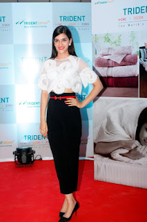 Kriti Sanon in Beautiful Transparent Linen Top at Trident Group Home Linen Collection Launch In Mumbai