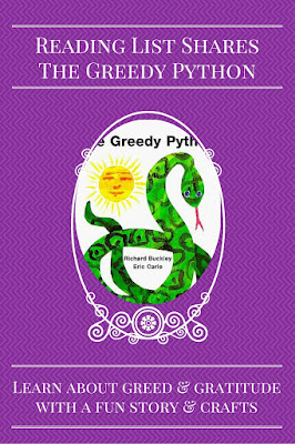 The Greedy Python with crafts and activities