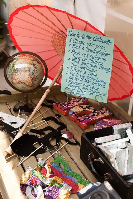 Sombrilla, mapa mundi, bigotes, letras, etc.