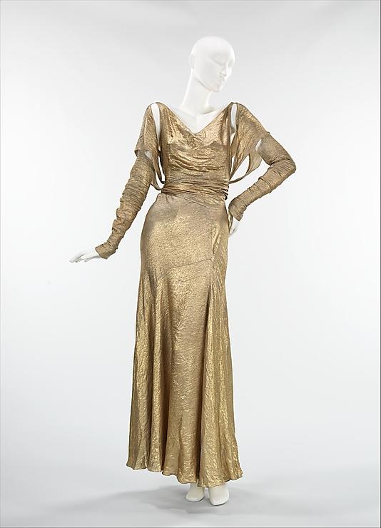 Kitten Vintage: Dress of the Week - Gold Lamé 1930s