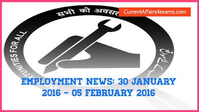 Employment News February 2016