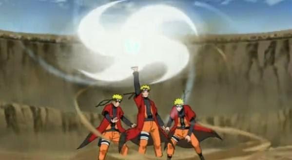 Futon Rasenshuriken Adalah Teknik Angin Yang Diciptakan Oleh Naruto Setelah Ia Menguasai Rasengan Dengan Memanisi Chakra Dari