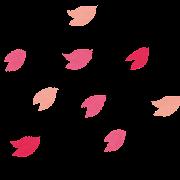 桜のイラスト「桜吹雪」