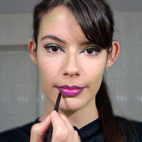 monika sanchez maquillar labios morados para makeup de halloween