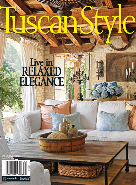 Vignette design tuscan style now available online Spring cottage magazine
