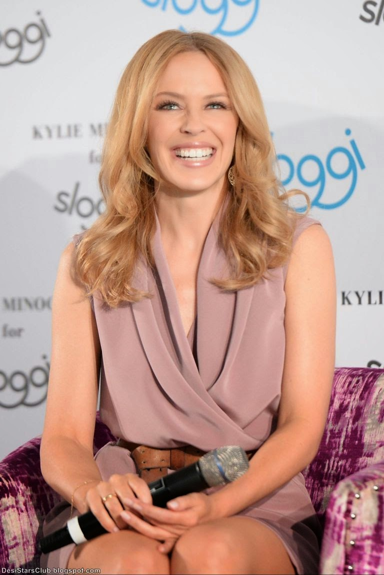 Australian Celebrity Kylie Minogue Gorgeous Photoshoot at Sloggi Lingerie Q&A