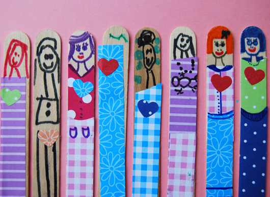 Valentines stick dolly gifts