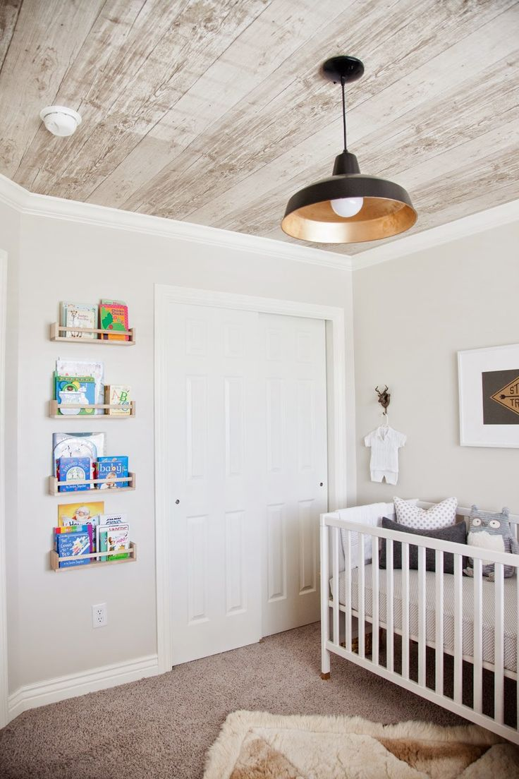 whitewashed wood nursery