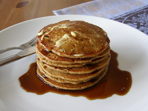 Old Fashioned Buckwheat Griddle Cakes with Brown Sugar Syrup